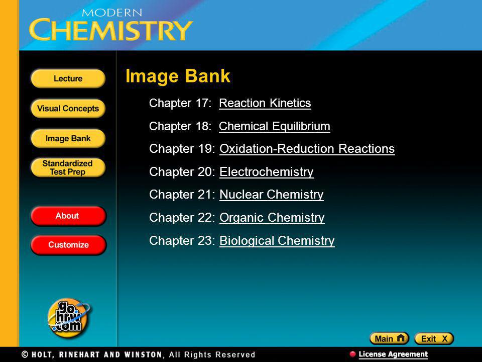 Image Bank Chapter 19: Oxidation-Reduction Reactions