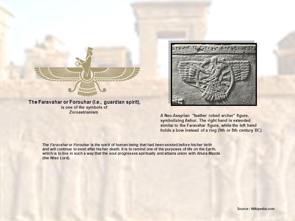 The Faravahar or Forouhar (I.e., guardian spirit),