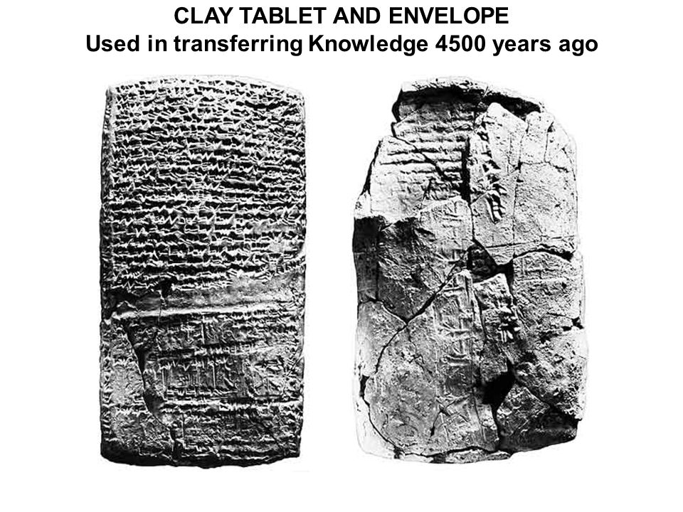 CLAY TABLET AND ENVELOPE Used in transferring Knowledge 4500 years ago
