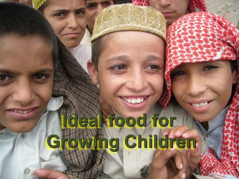 Ideal food for Growing Children