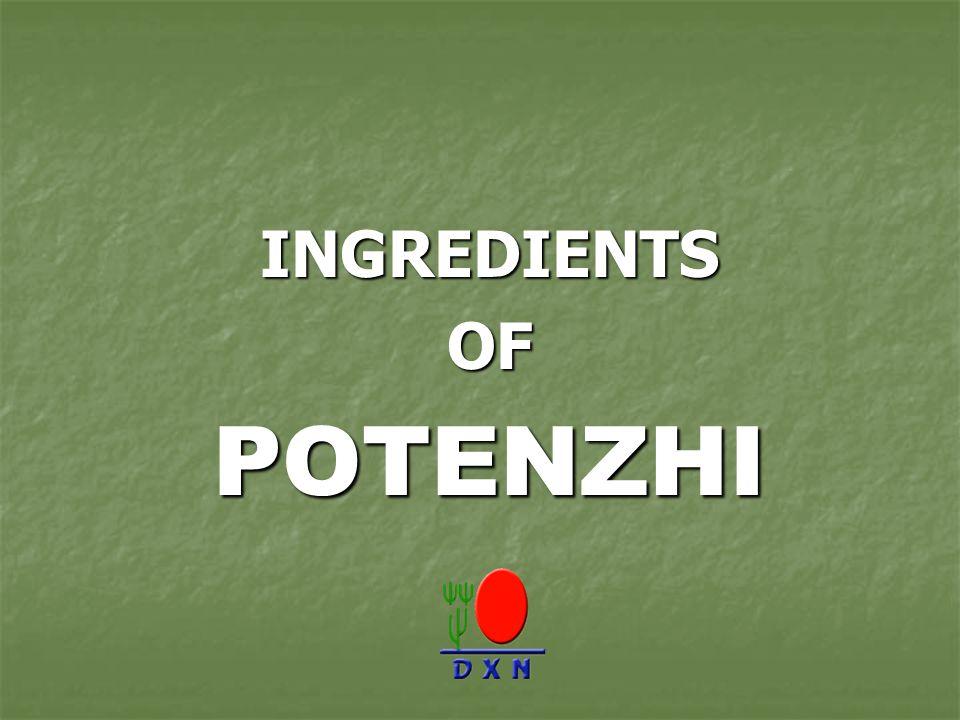 INGREDIENTS OF POTENZHI
