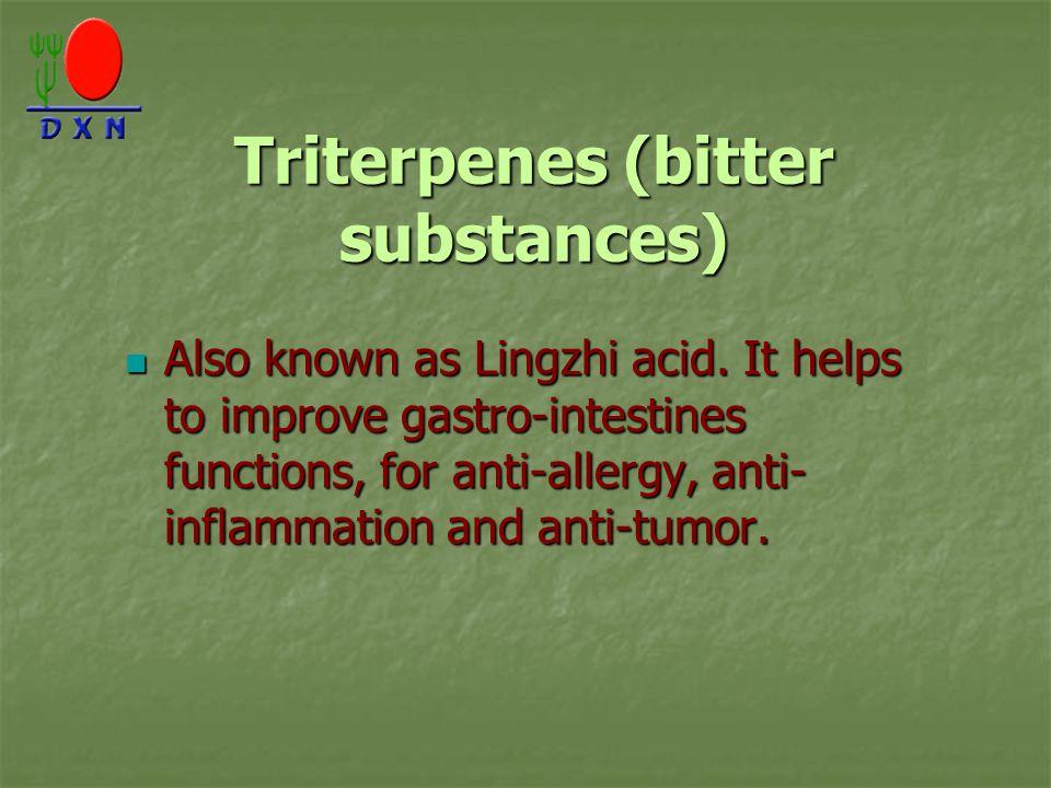 Triterpenes (bitter substances)