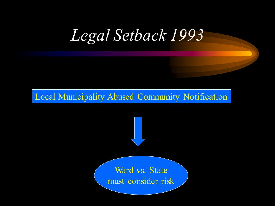 Legal Setback 1993 Local Municipality Abused Community Notification