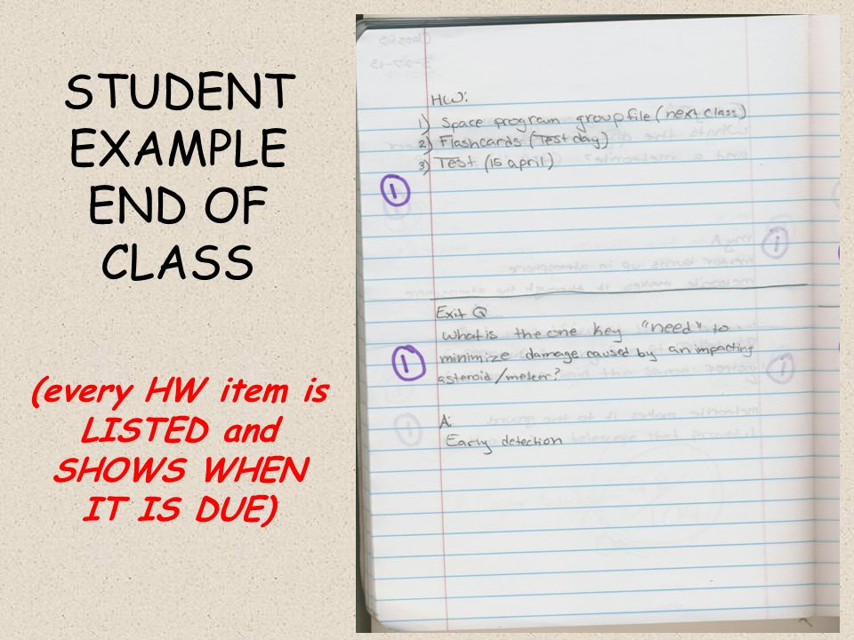 (every HW item is LISTED and SHOWS WHEN IT IS DUE)