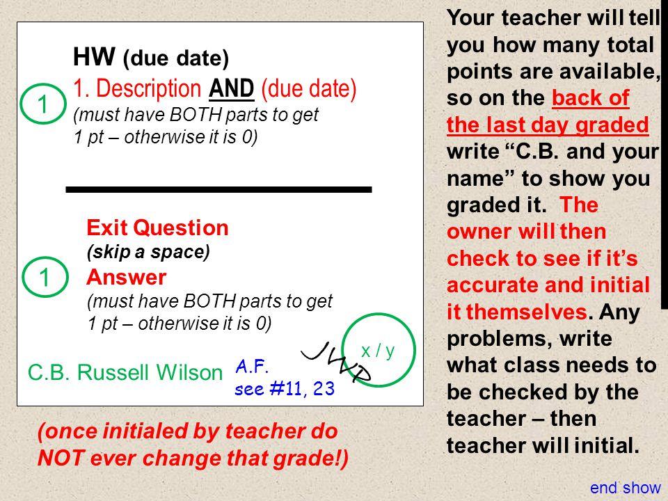JWP HW (due date) 1. Description AND (due date) 1 1