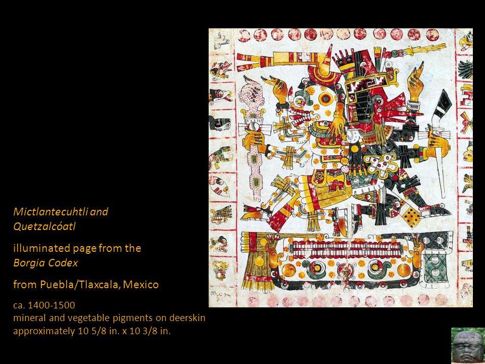 Mictlantecuhtli and Quetzalcóatl