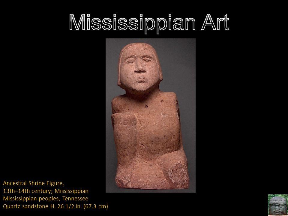 Mississippian Art Ancestral Shrine Figure,