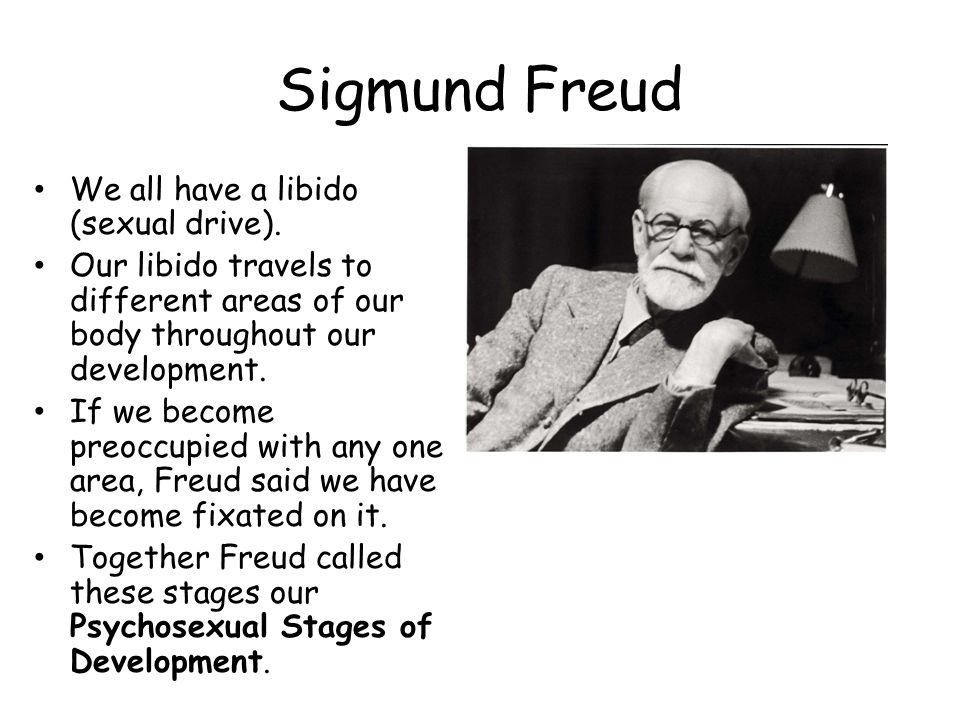 Sigmund Freud We all have a libido (sexual drive).