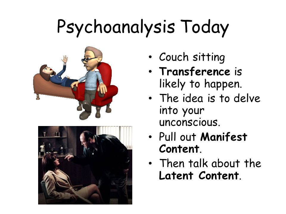 Psychoanalysis Today Couch sitting Transference is likely to happen.