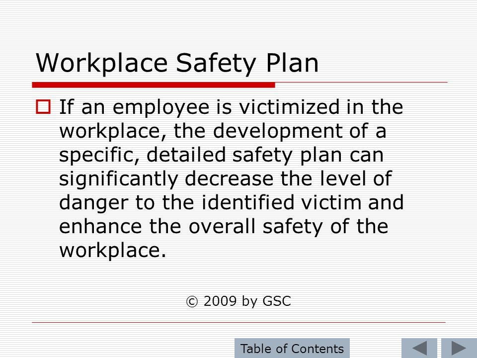 Workplace Safety Plan