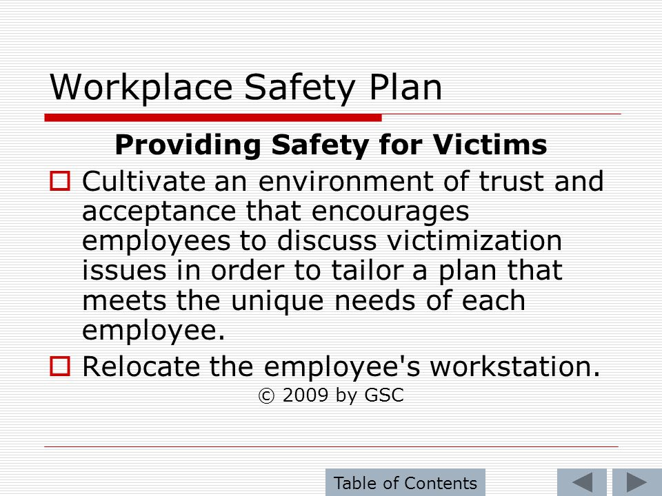 Providing Safety for Victims