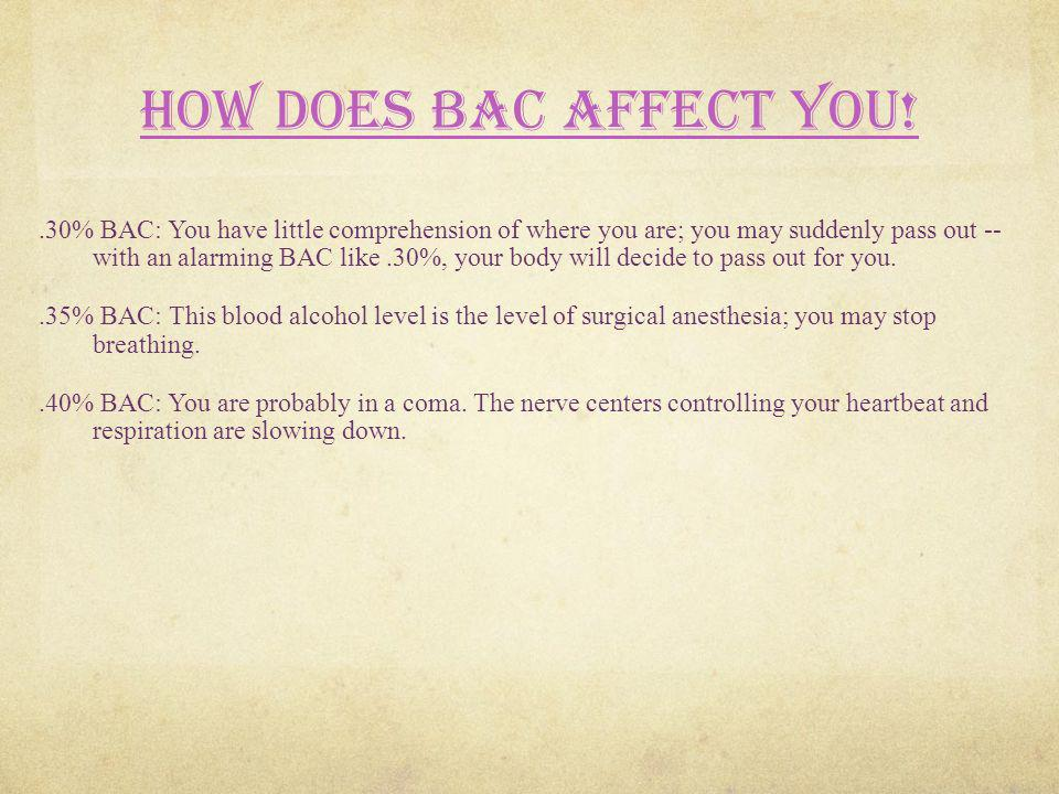 How does BAC affect you!