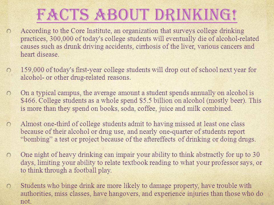 Facts About Drinking!