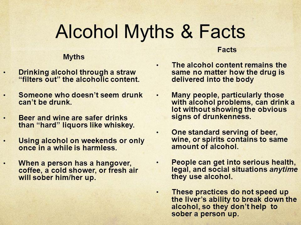 Alcohol Myths & Facts Facts