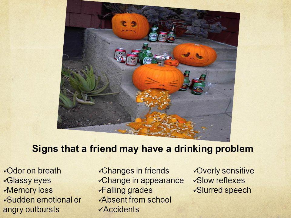 Signs that a friend may have a drinking problem