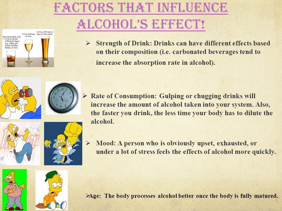 Factors that influence alcohol's effect!