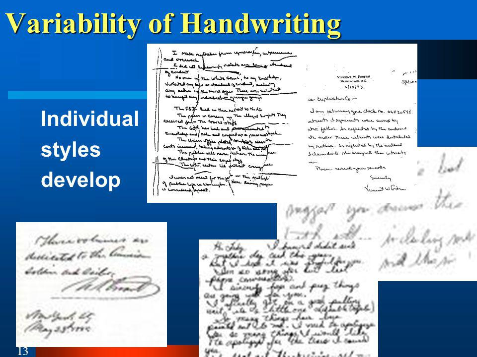 Variability of Handwriting