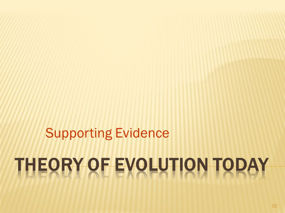 Theory of Evolution Today