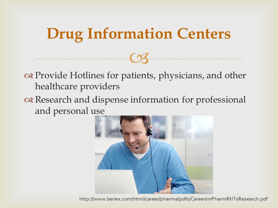 Drug Information Centers