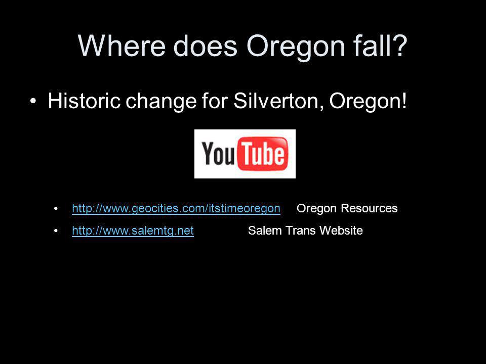 Where does Oregon fall Historic change for Silverton, Oregon!