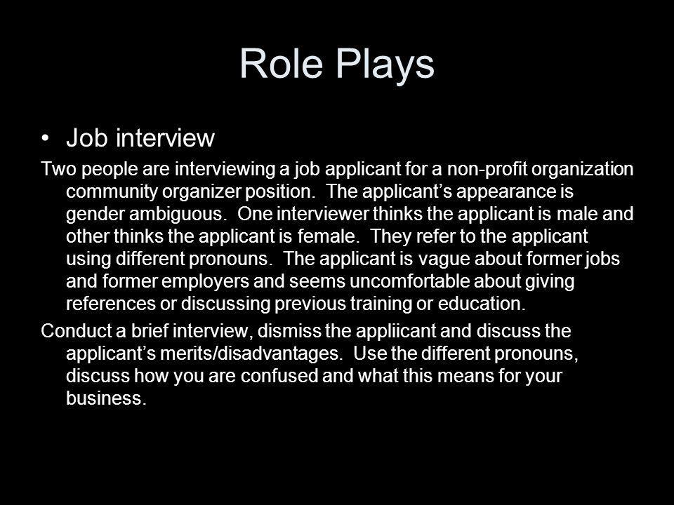 Role Plays Job interview