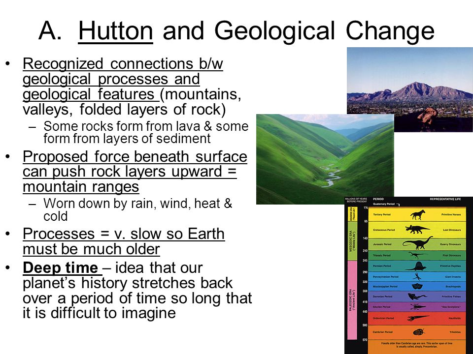 A. Hutton and Geological Change
