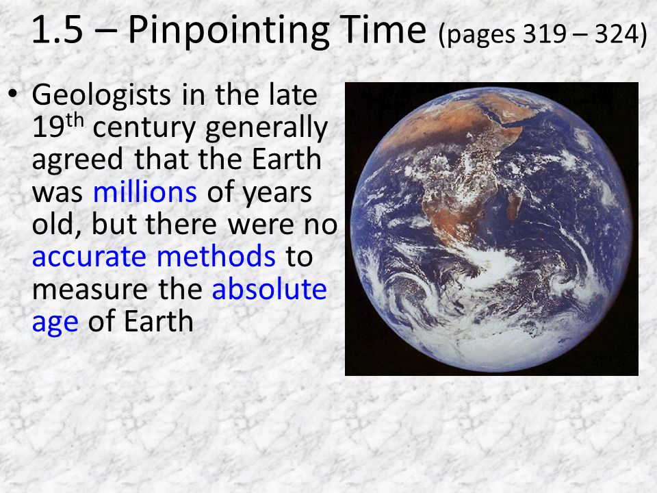1.5 – Pinpointing Time (pages 319 – 324)