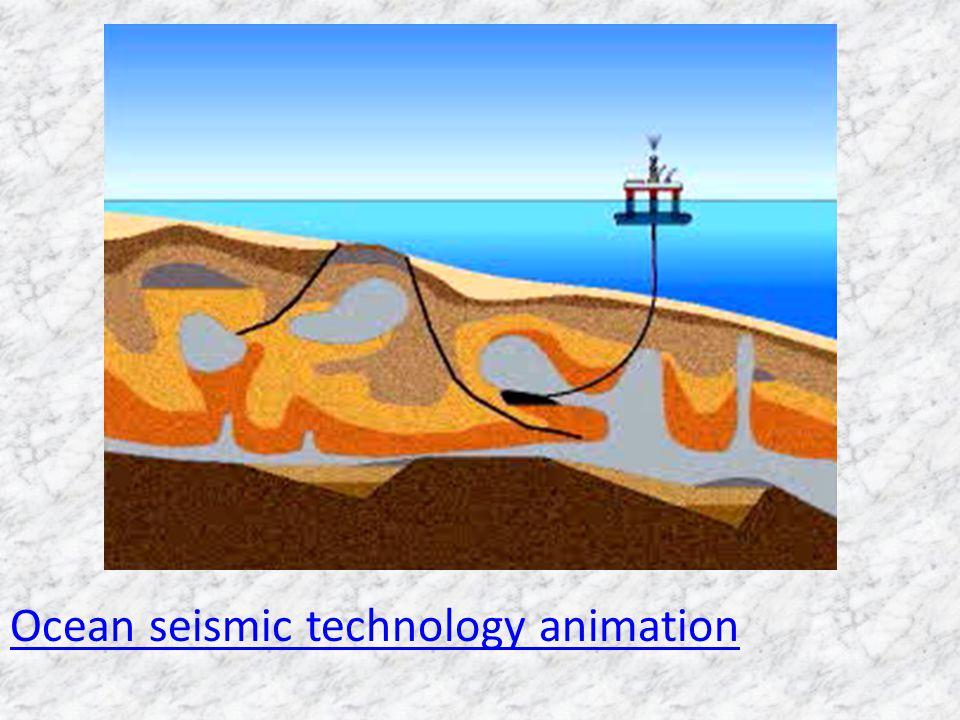 Ocean seismic technology animation