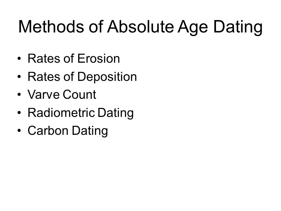 Methods of Absolute Age Dating