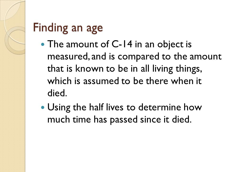 Finding an age