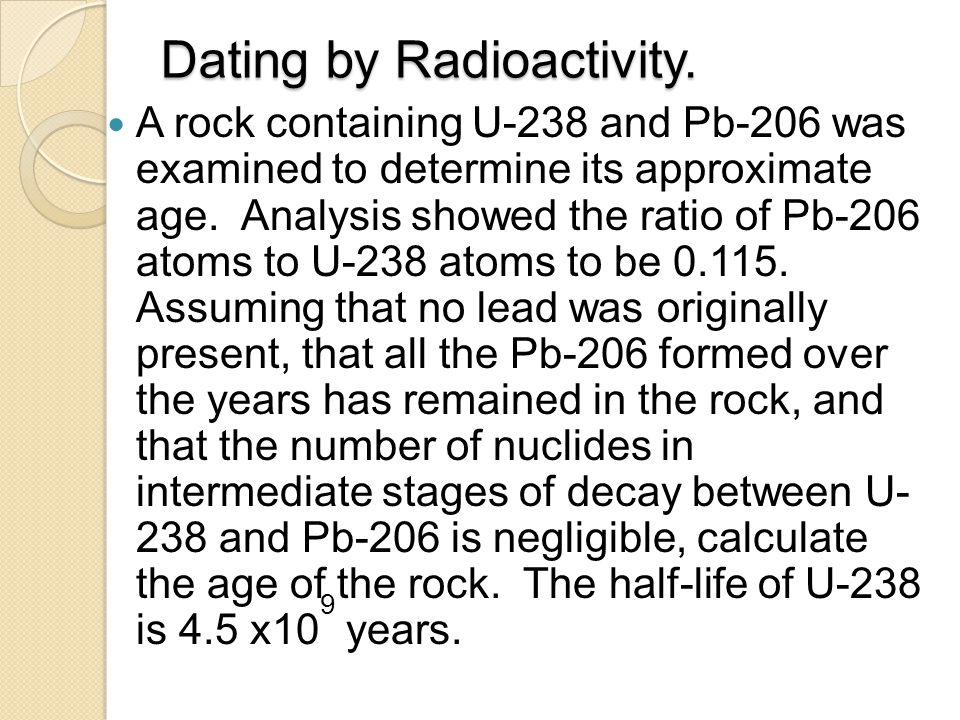Dating by Radioactivity.