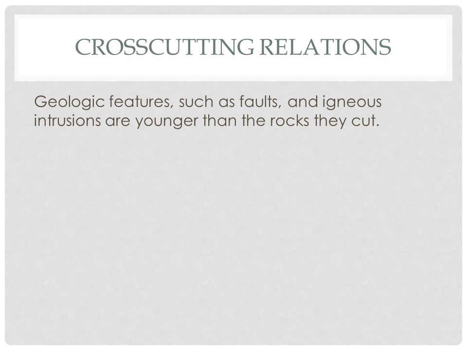 Crosscutting relations