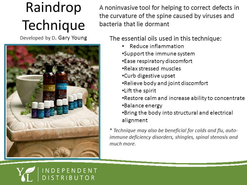 Raindrop Technique Developed by D. Gary Young