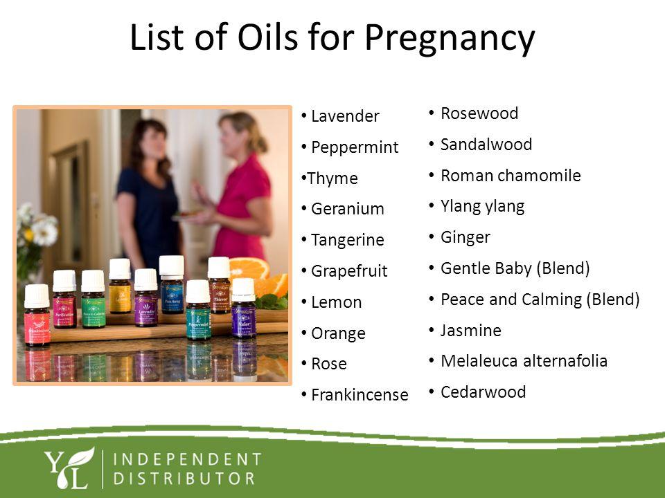 List of Oils for Pregnancy