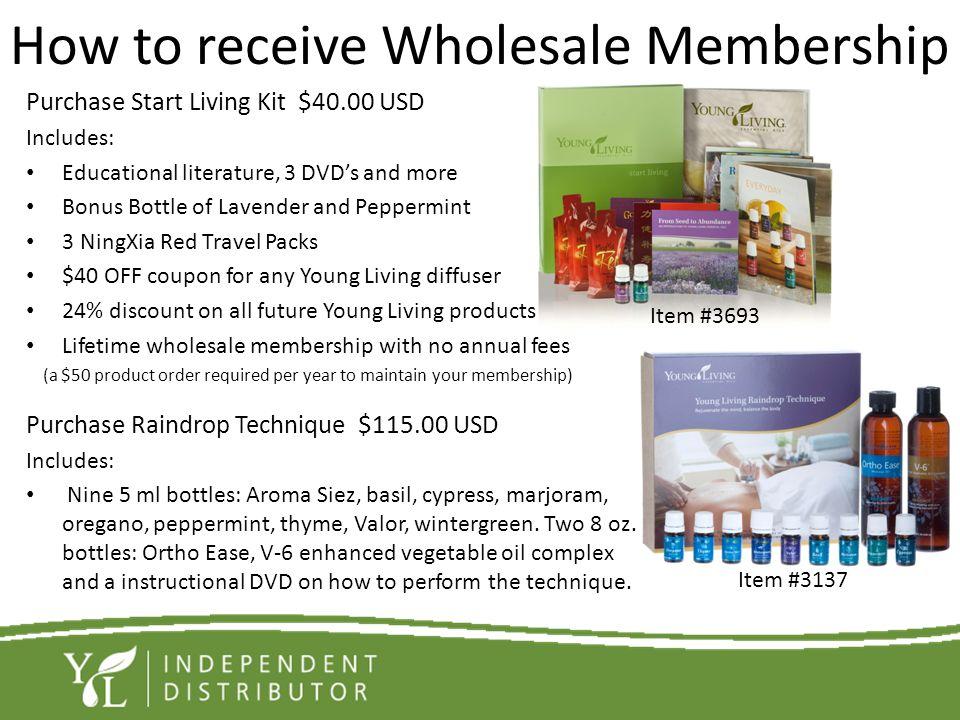 How to receive Wholesale Membership