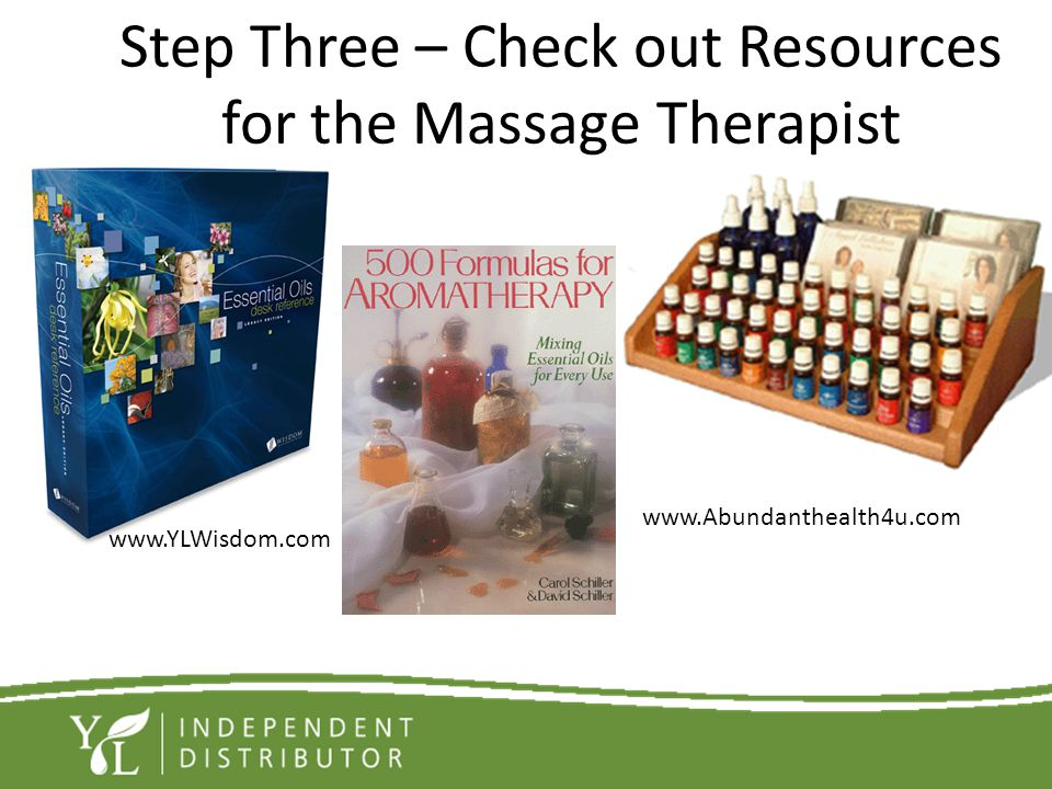 Step Three – Check out Resources for the Massage Therapist