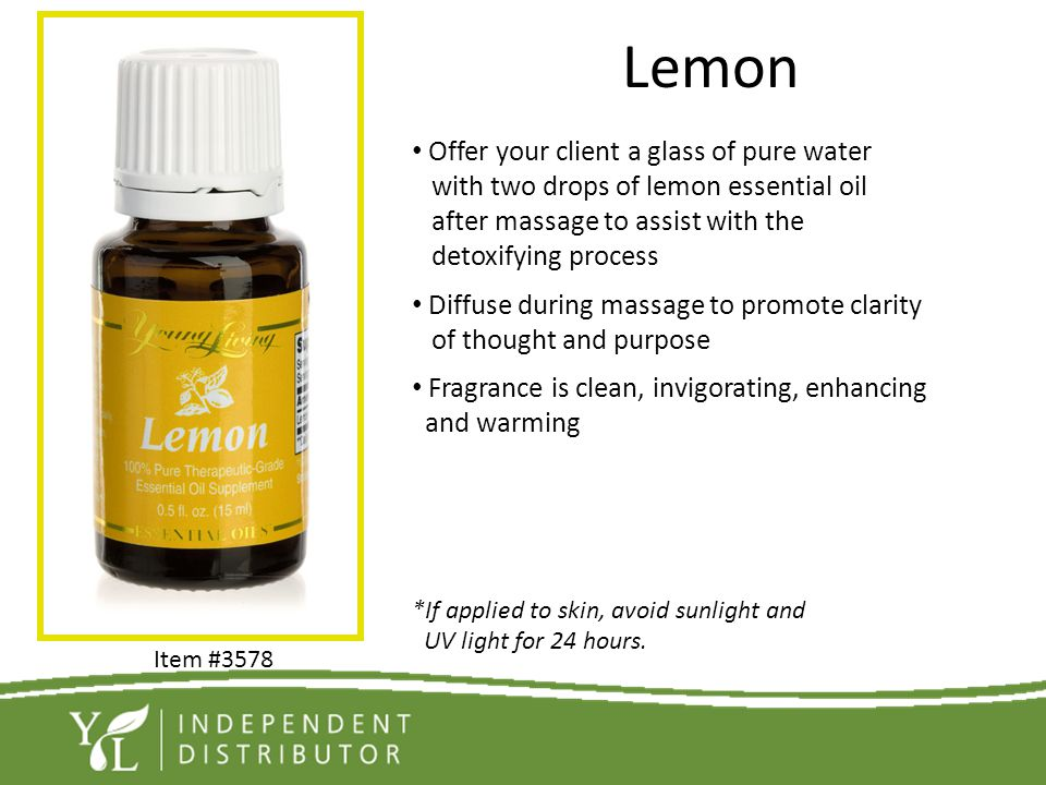 Lemon Offer your client a glass of pure water