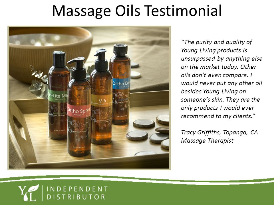Massage Oils Testimonial