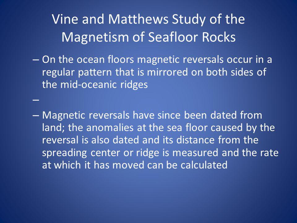 Vine and Matthews Study of the Magnetism of Seafloor Rocks