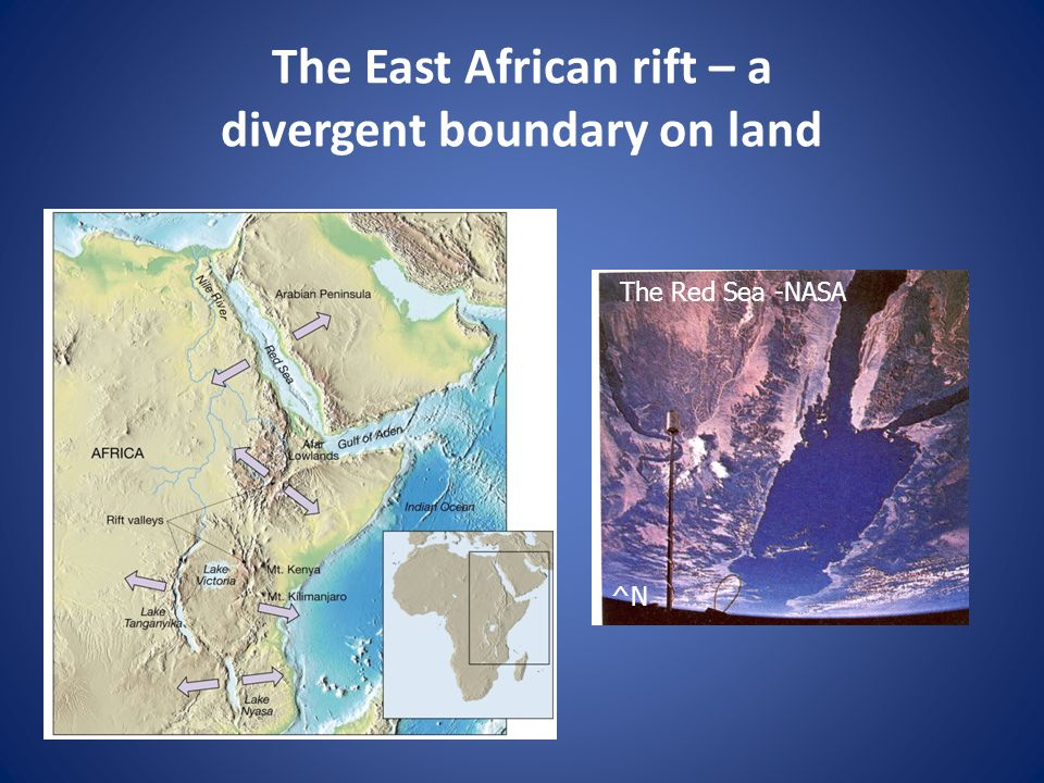 The East African rift – a divergent boundary on land