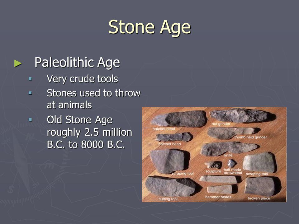 Stone Age Paleolithic Age