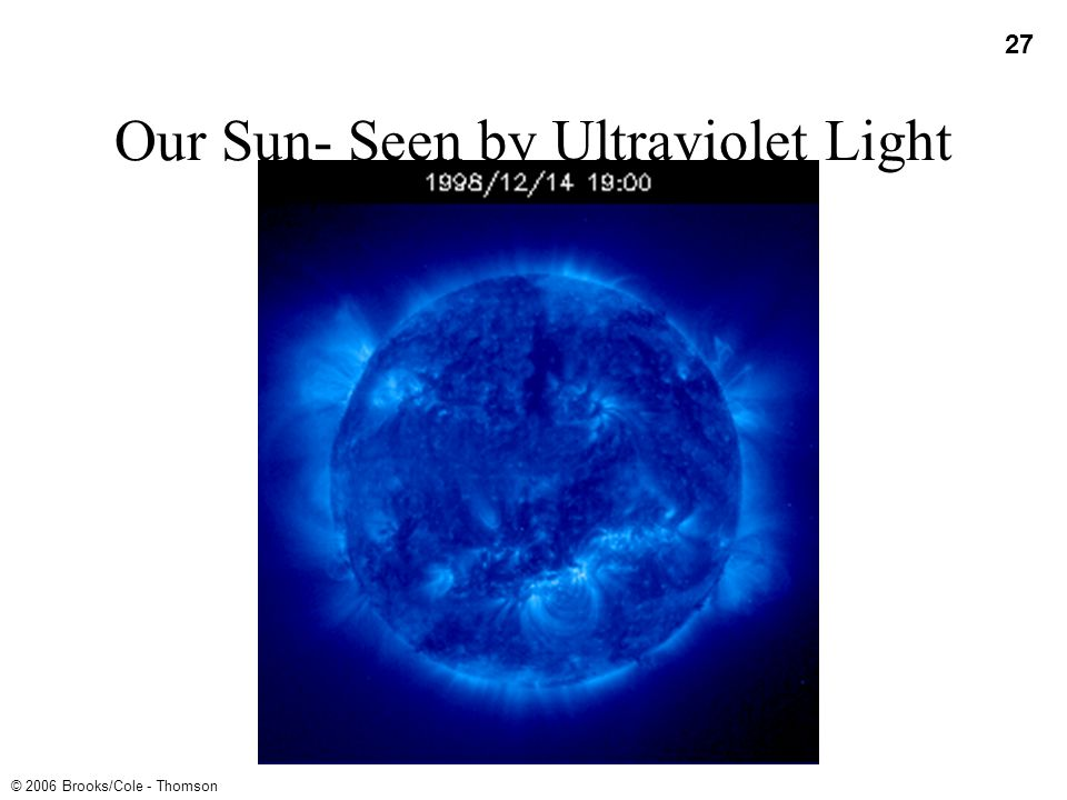 Our Sun- Seen by Ultraviolet Light