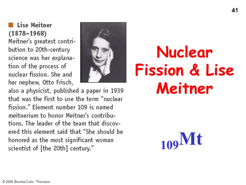Nuclear Fission & Lise Meitner
