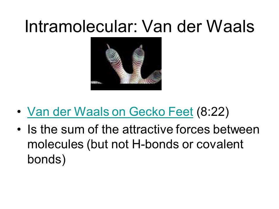 Intramolecular: Van der Waals