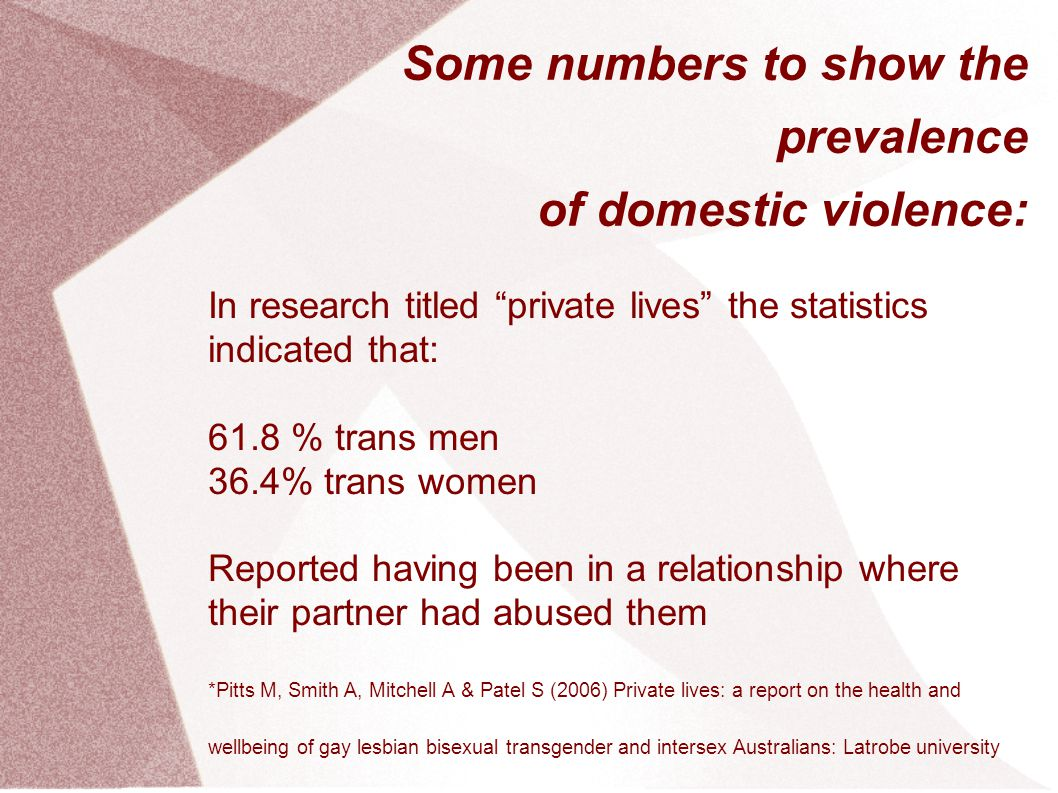 Some numbers to show the prevalence of domestic violence: