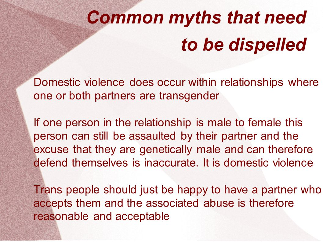 Common myths that need to be dispelled
