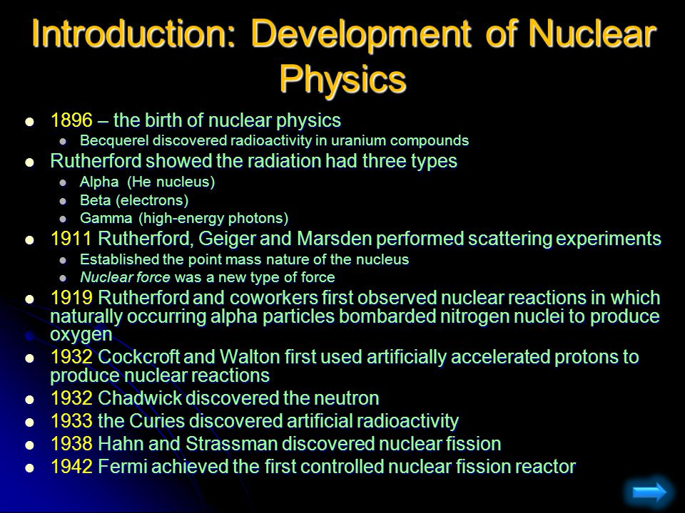 Introduction: Development of Nuclear Physics