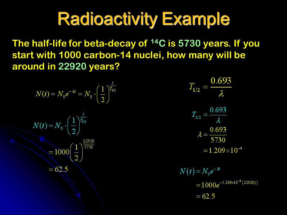 Radioactivity Example