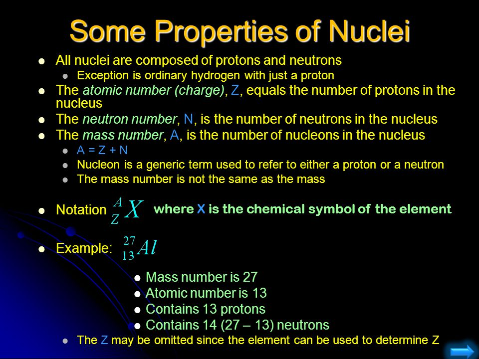 Some Properties of Nuclei
