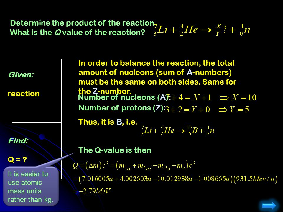 Determine the product of the reaction